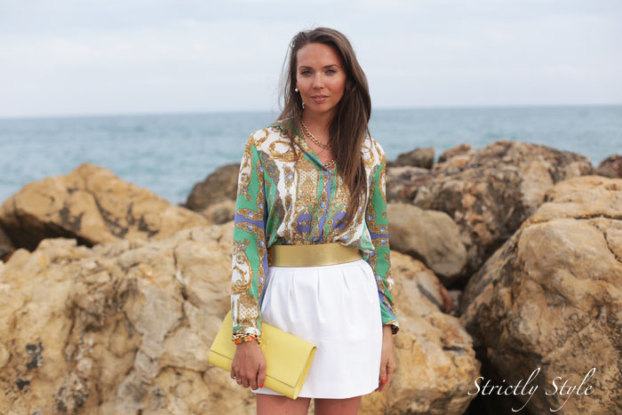 altea outfit gold chain blouse white skirtIMG_3838