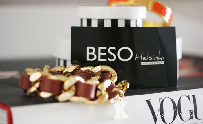 beso helsinki brown gold braceleta