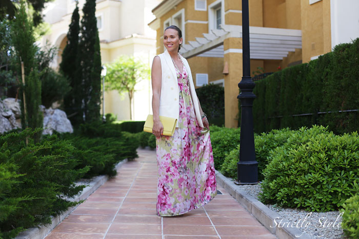 ekaalteaasu floral maxi dress white blazerIMG_2760