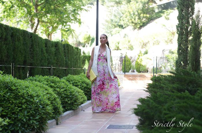 ekaalteaasu floral maxi dress white blazerIMG_2782