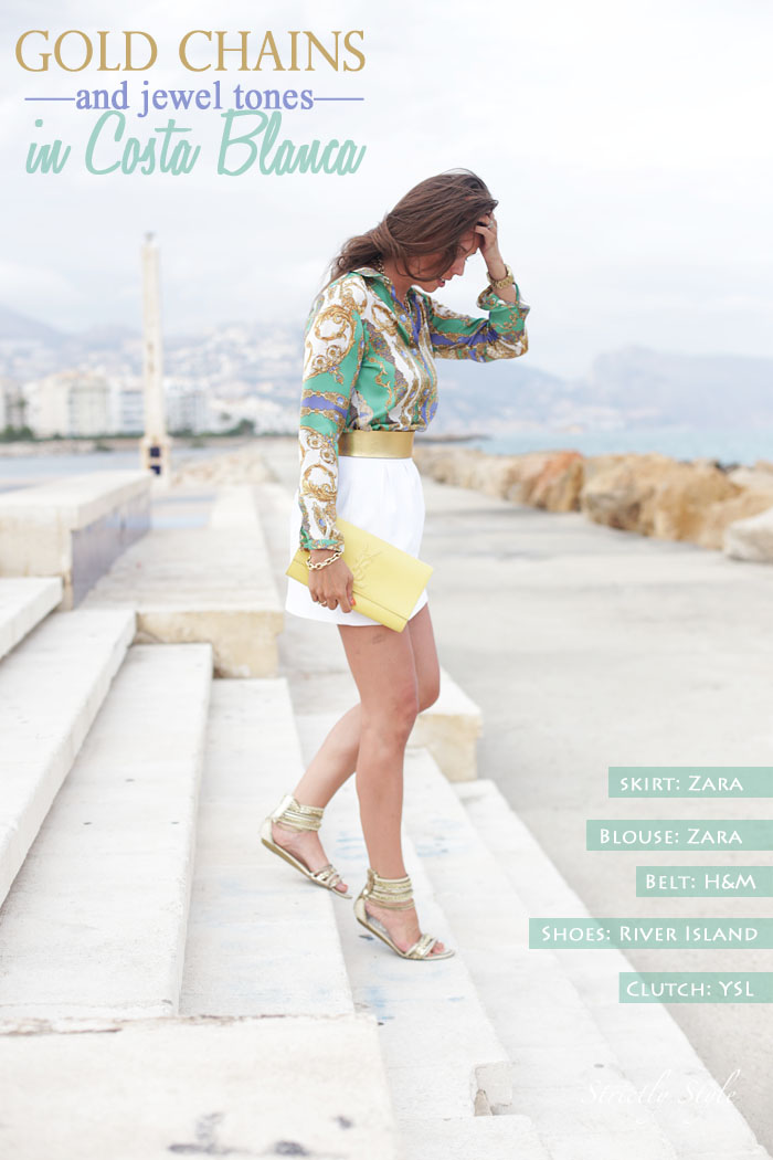 title altea outfit gold chain blouse white skirtIMG_4030