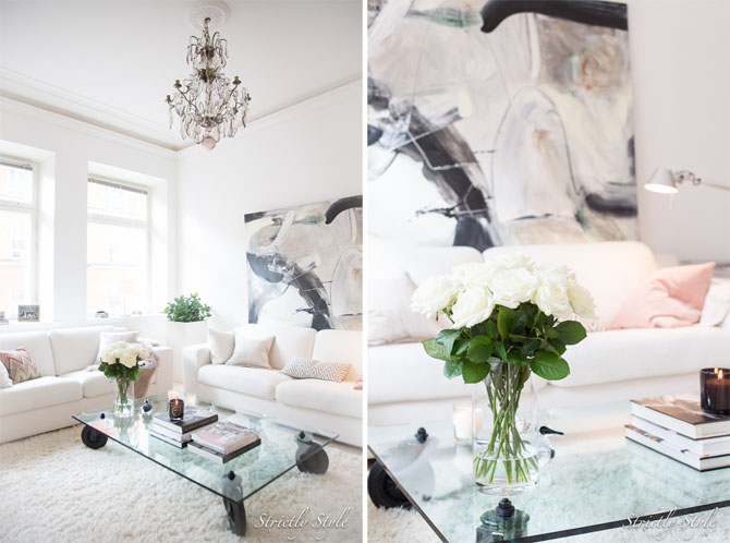 white decor living
