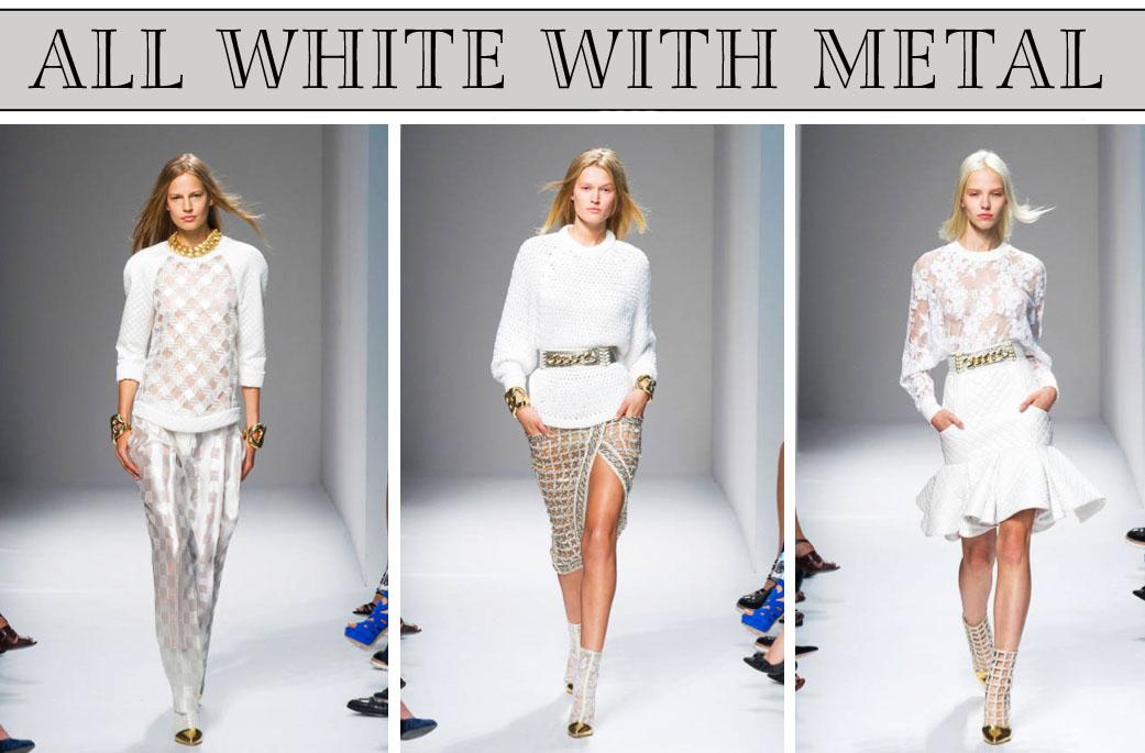 BALMAIN WHITE AND METAL