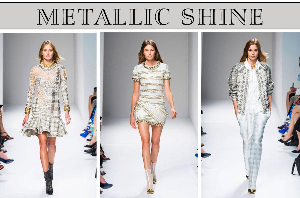 BALMAIN metallic shine