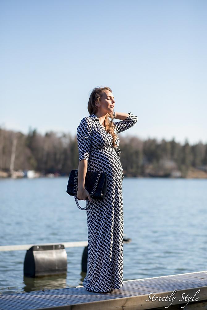 maternity style DVF adele dress (2 of 4)