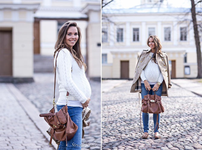 maternity jeans and knit