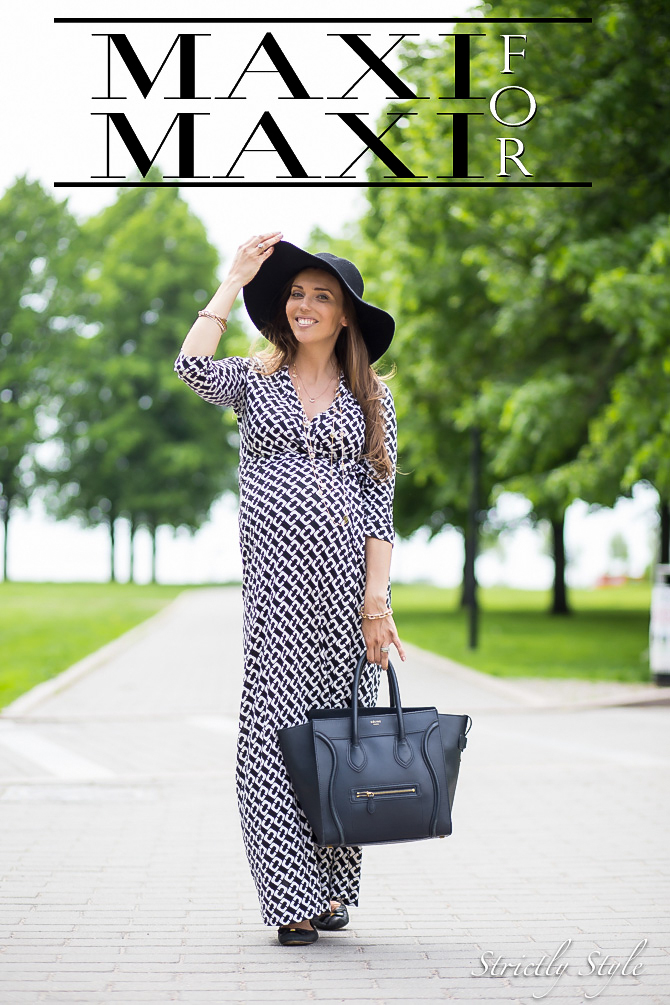 maternity style dvf maxi wrap dress-