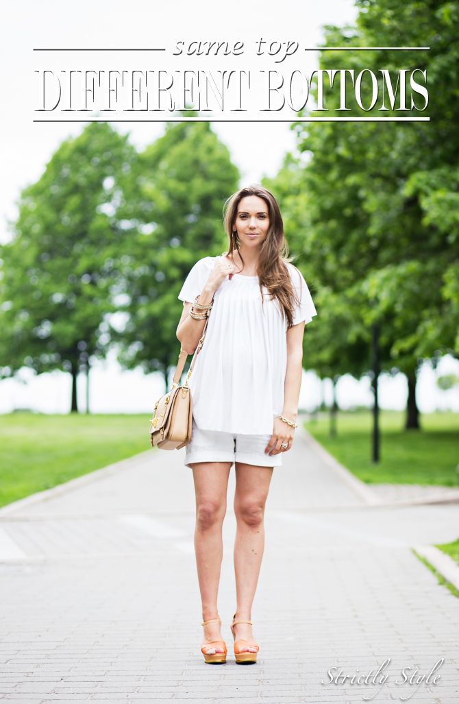 maternity style white shorts outfit-1852TITLE
