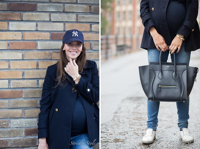 NAVY LIPPIS maternity style