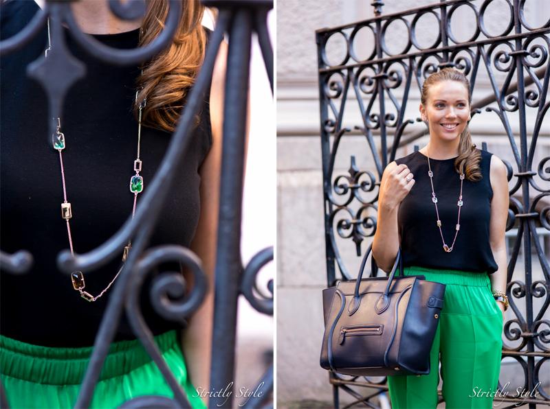 black and gem green pants--2