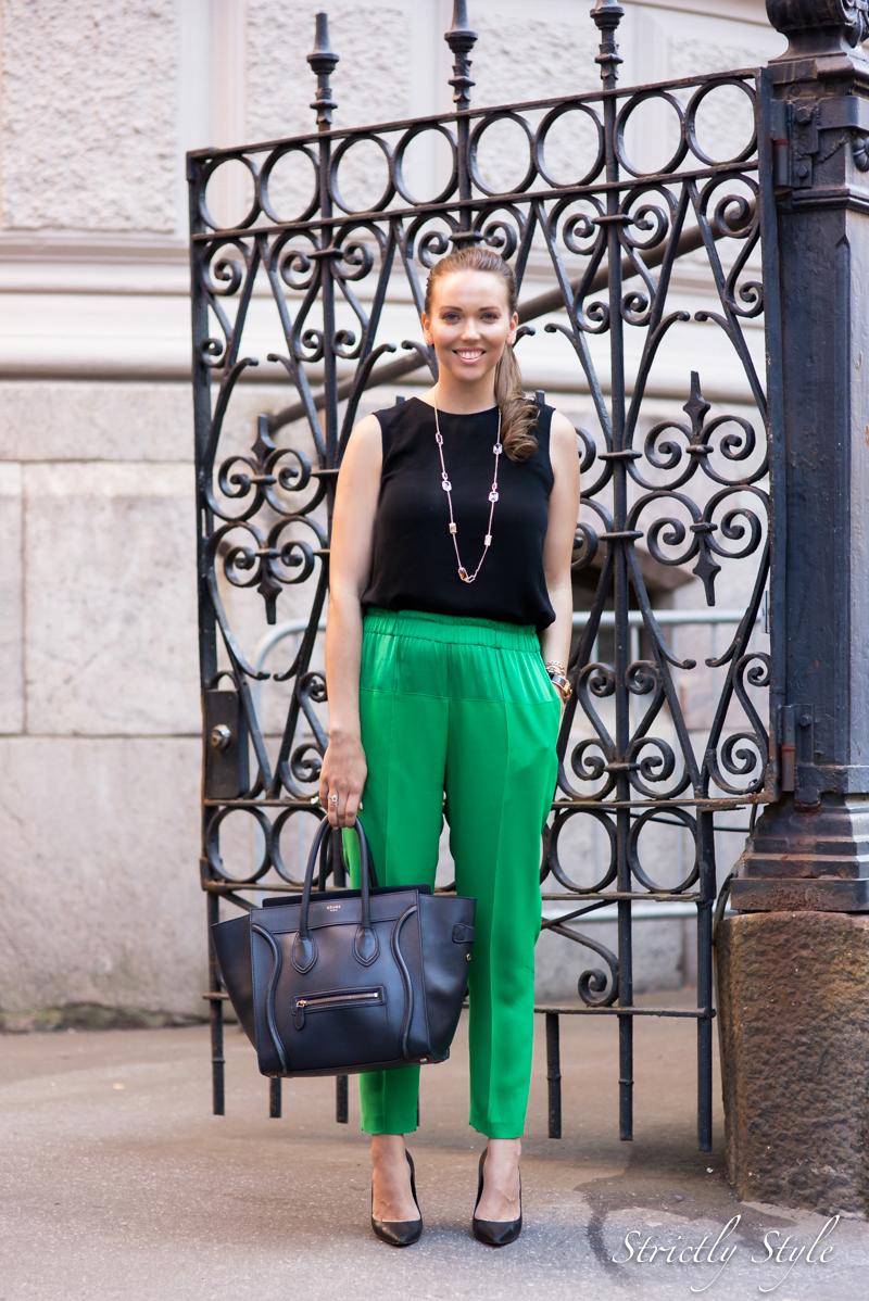 black and gem green pants-9952toka