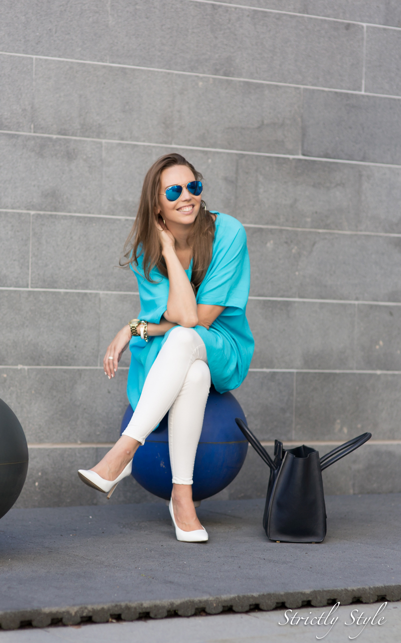 turquoise poncho--4