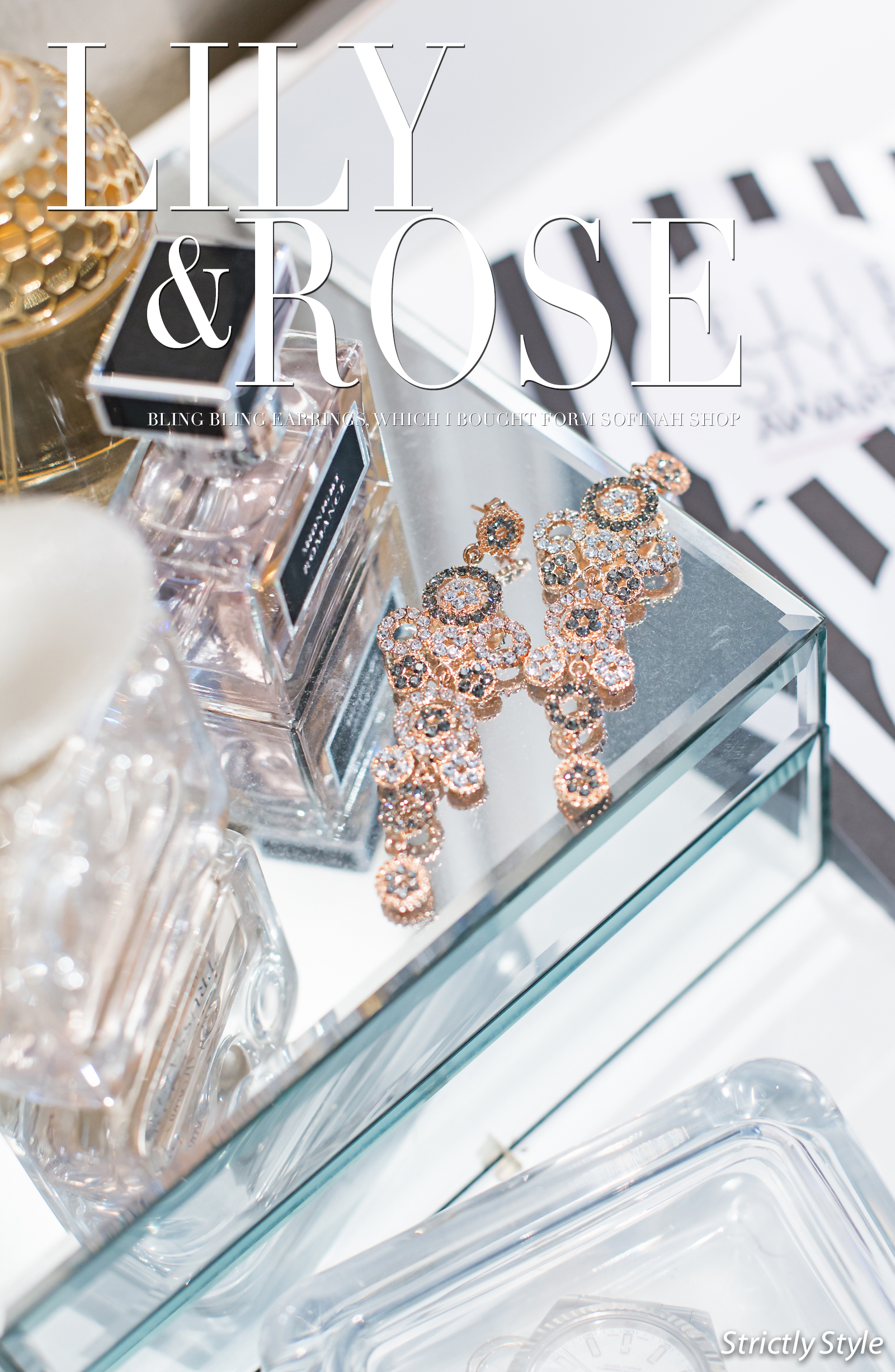 bling bling lily and rose-1195 TEXT