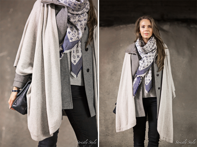 grey layers collage