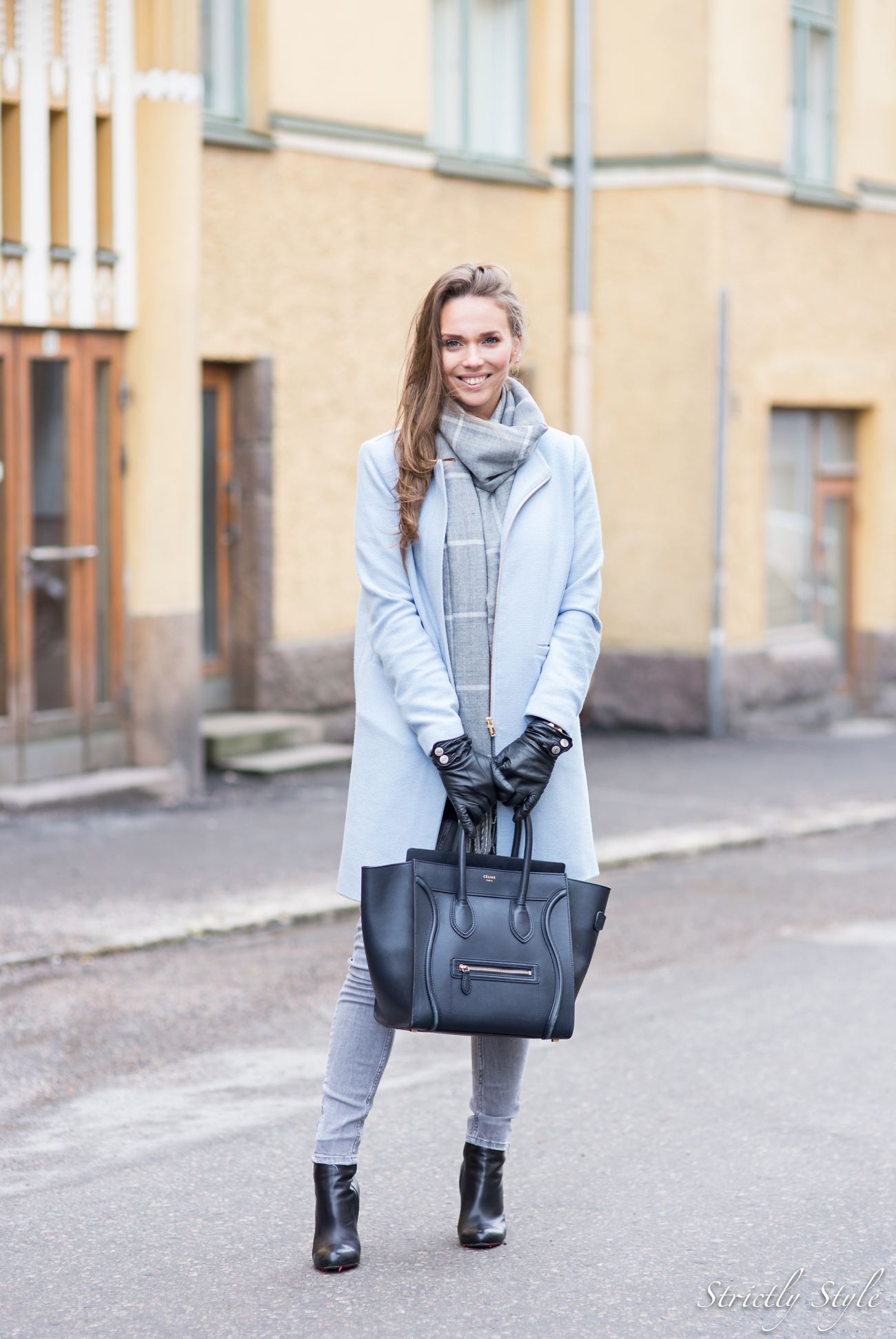 pastel blue coat grey shades punavuori-9703