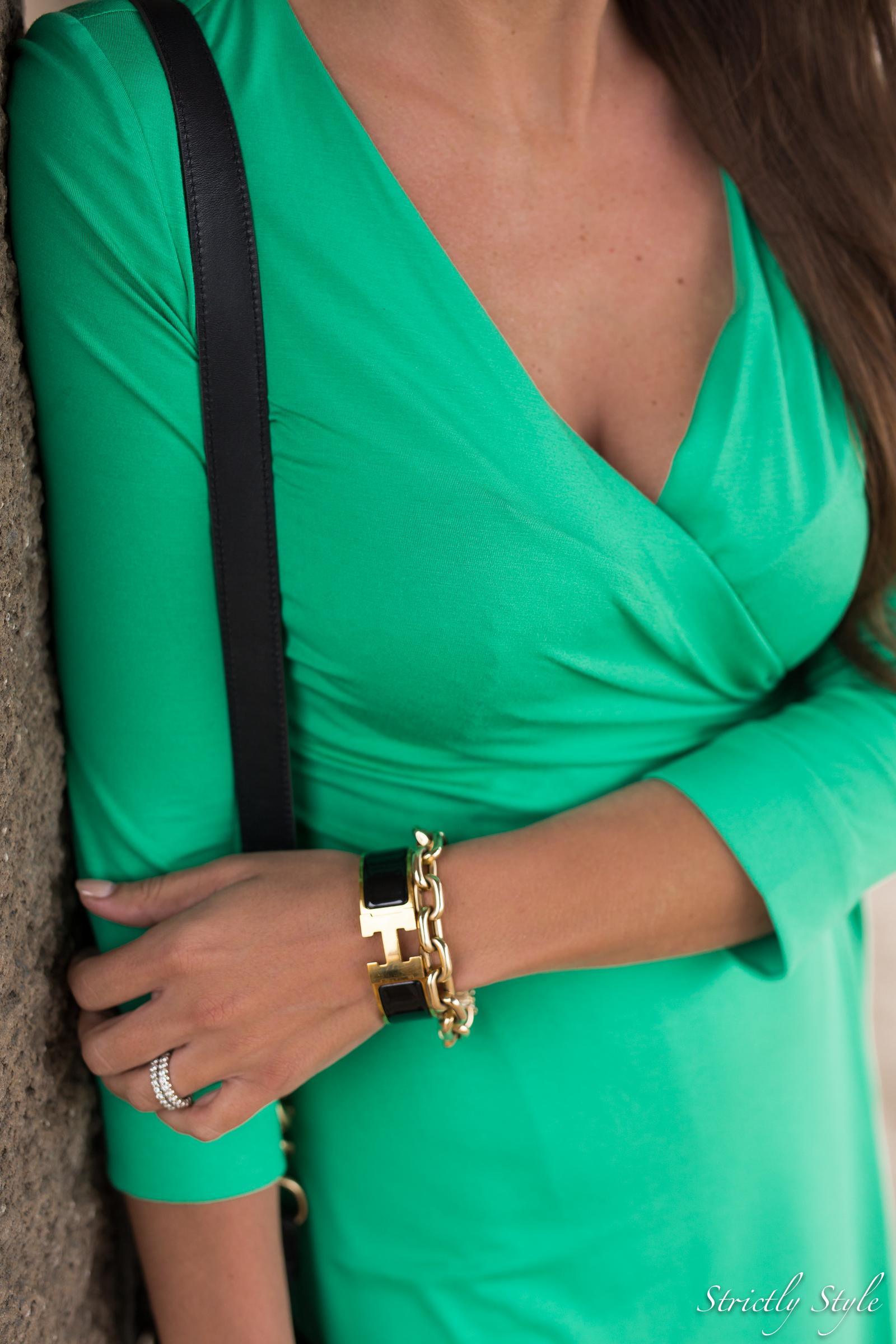 emerald green dvf dress manhattan pier-9605
