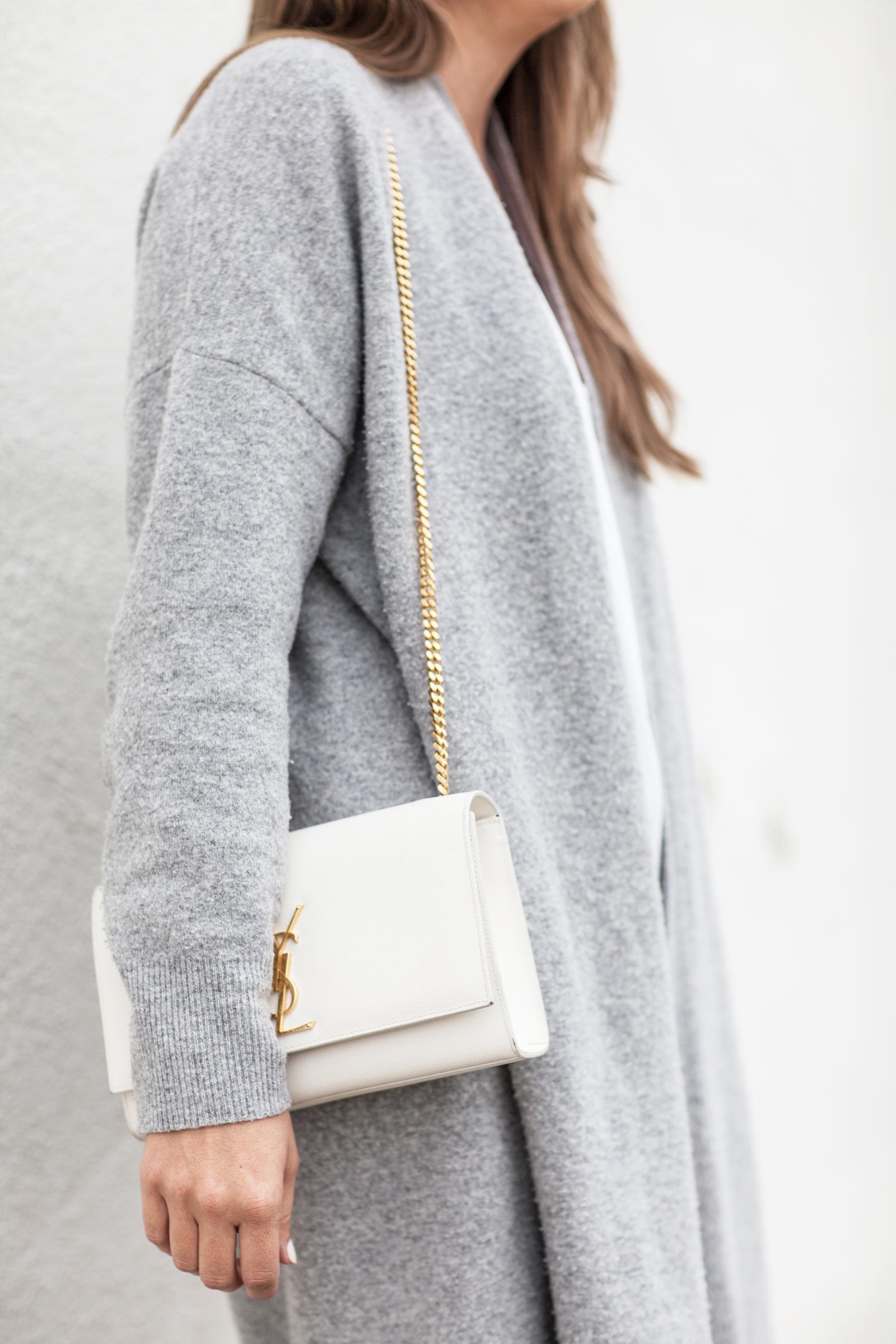 harmaa neule valkoiset housut long beach-5410
