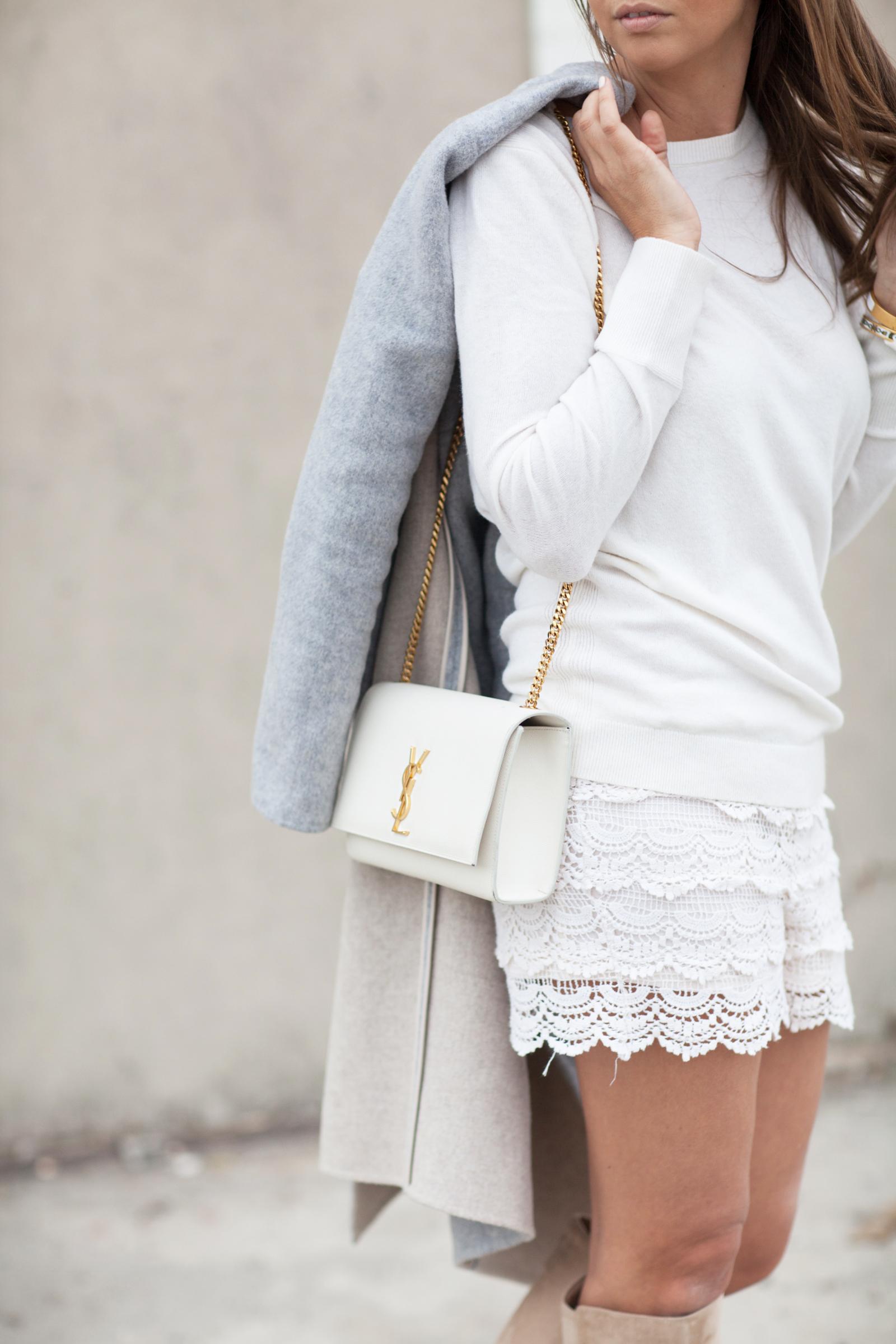 harmaa takki pitsisortsit valkoinen paita lon beach-5515